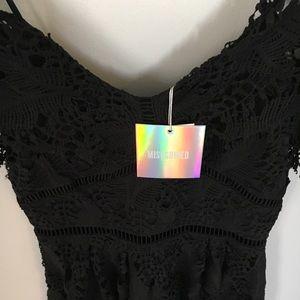 Missguided Dresses - Missguided Black Lace Cold Shoulder Dress